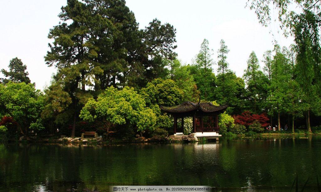 西湖 园林 中式园林 湖面 庭园  摄影 建筑园林 园林建筑 72dpi jpg