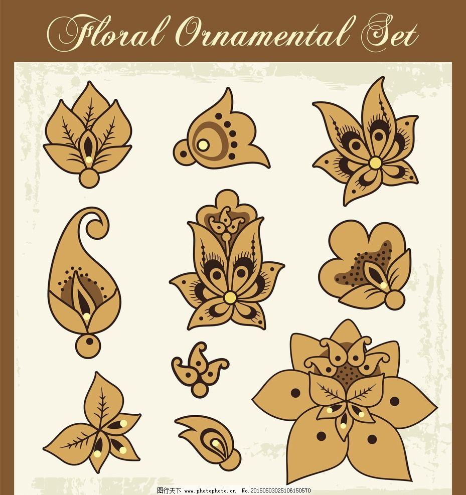 手绘花卉 花朵 鲜花 花卉插图 插图 壁纸图案 手绘 设计 矢量 eps
