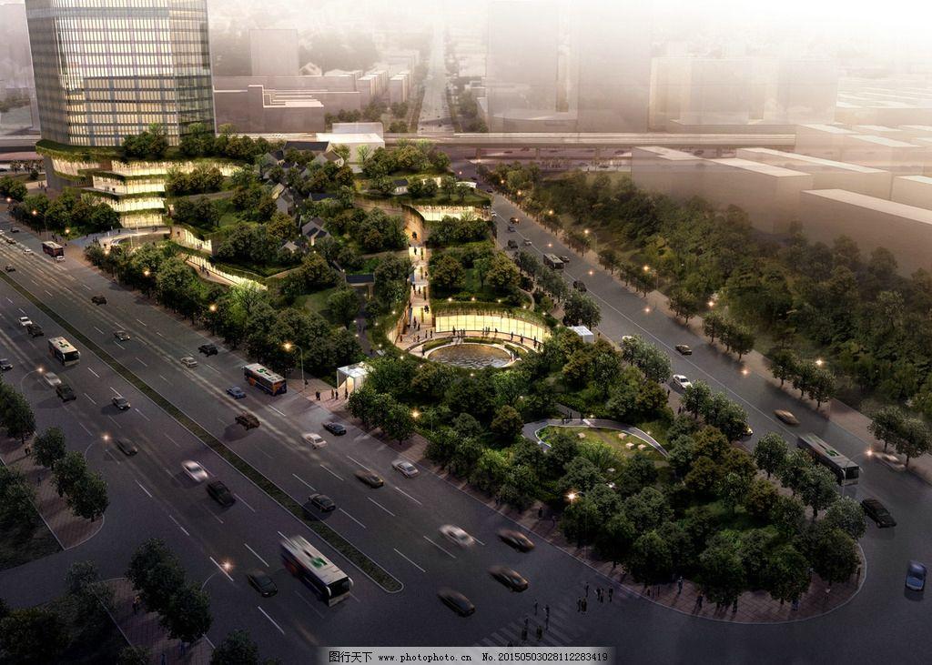 广场景观鸟瞰图图片_景观设计_环境设计_图行天下图库