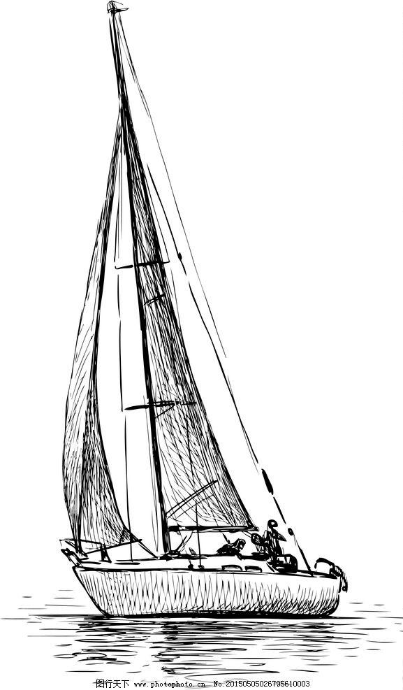 帆船怎么画步骤