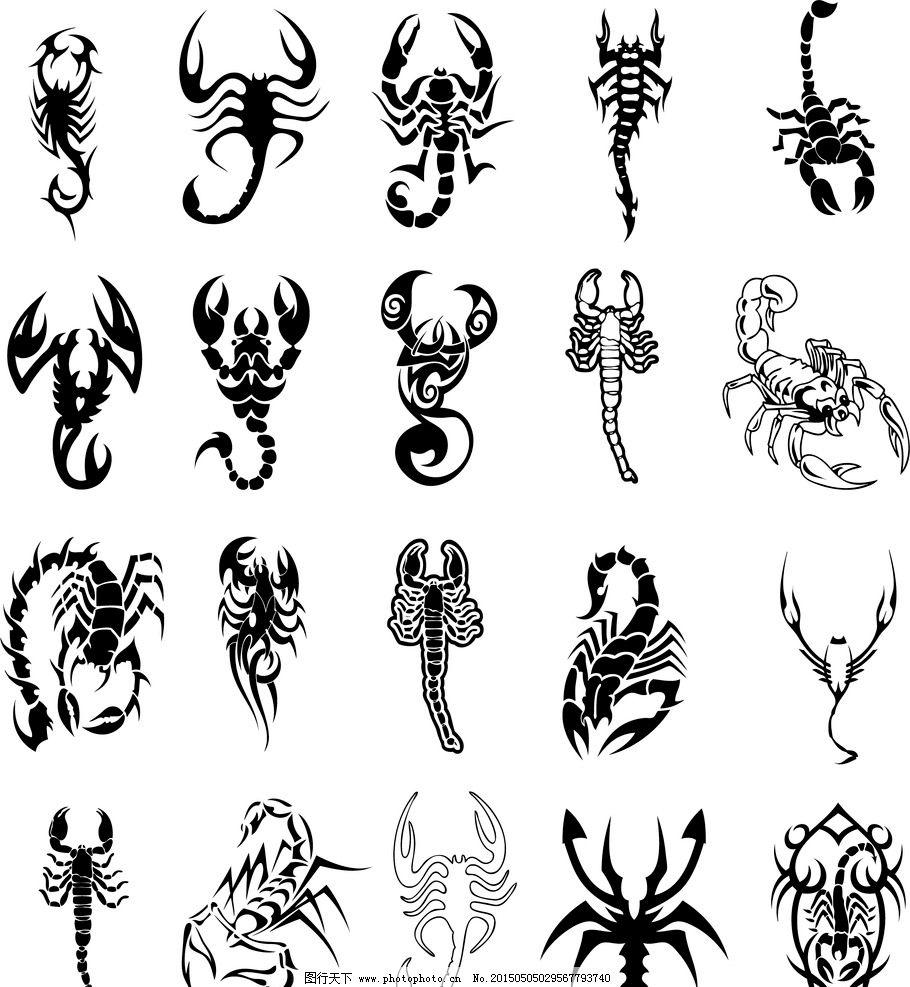 蝎子图腾矢量图片