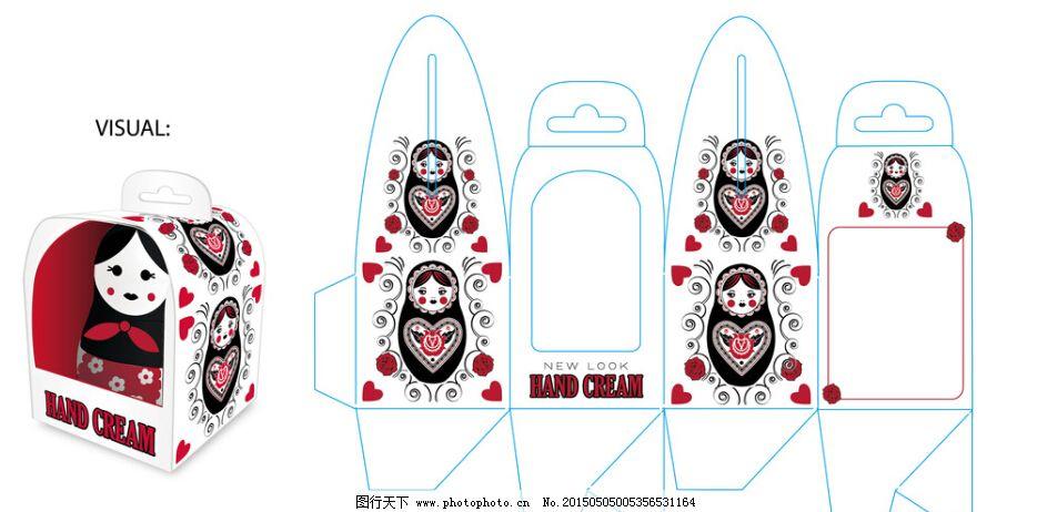 花纹 可爱娃娃 礼盒包装 俄罗斯娃娃 礼盒包装 包装设计 可爱娃娃