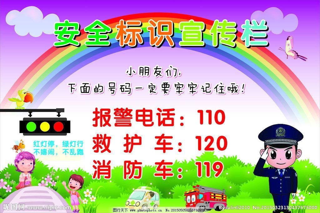 幼儿园安全标识宣传栏