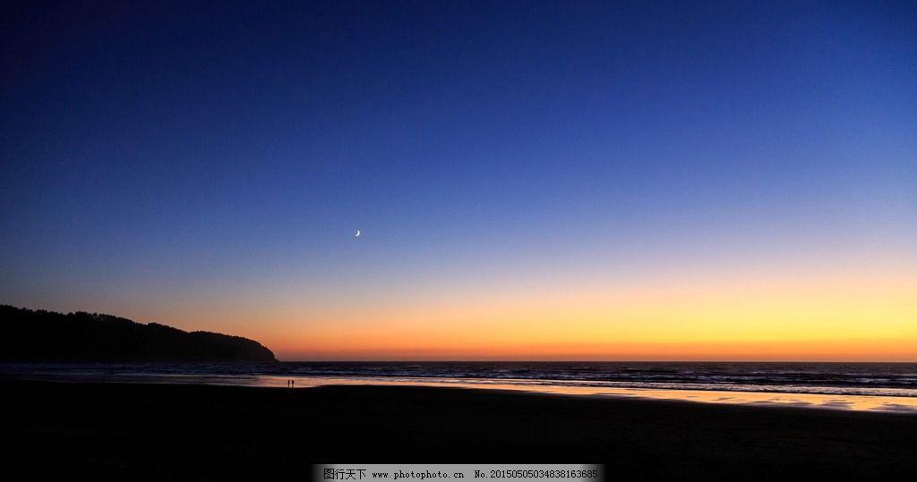 黎明 海边图片