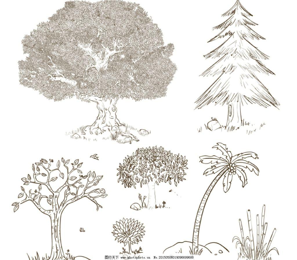 榕树简笔画步骤