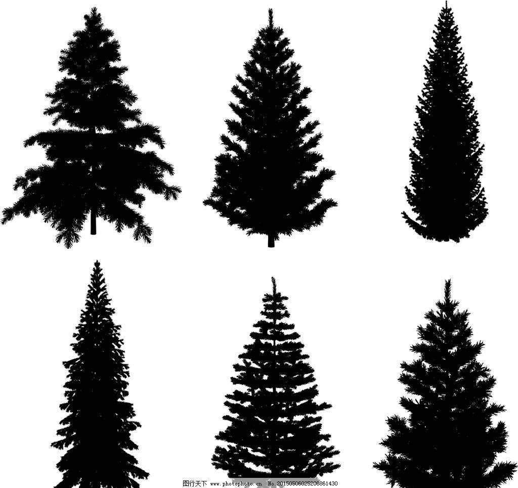 建筑钢笔画手绘树