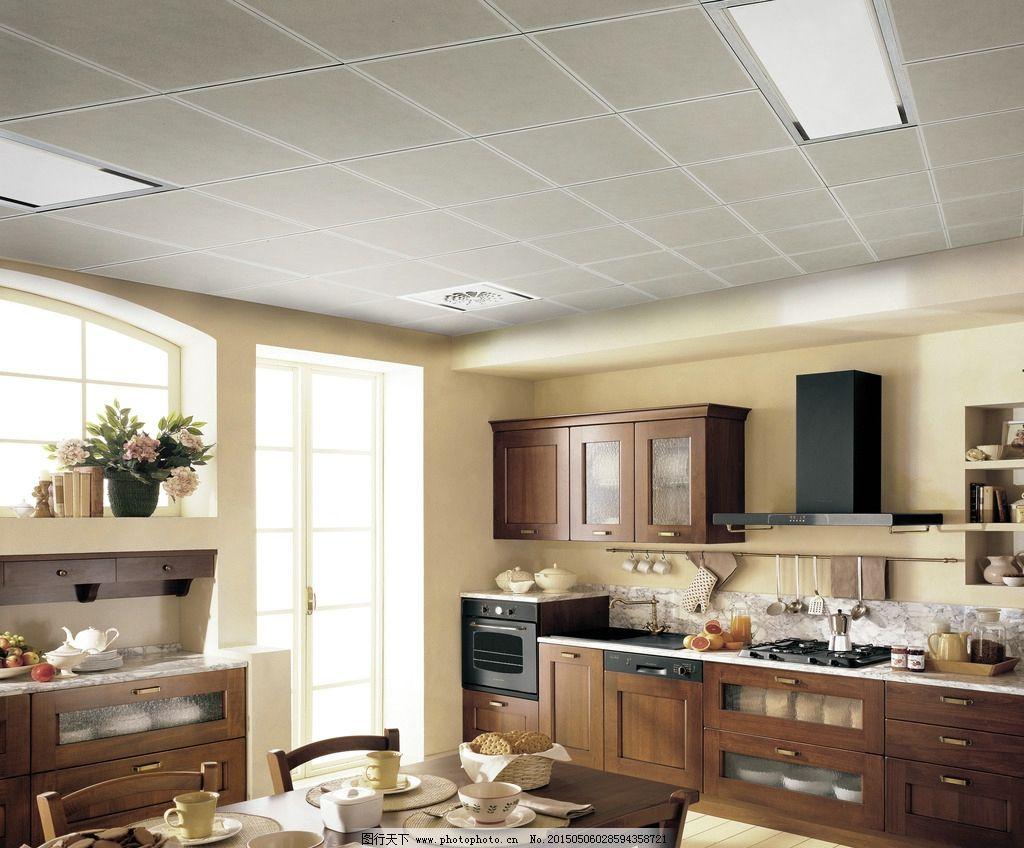 欧式厨房吊顶效果图图片