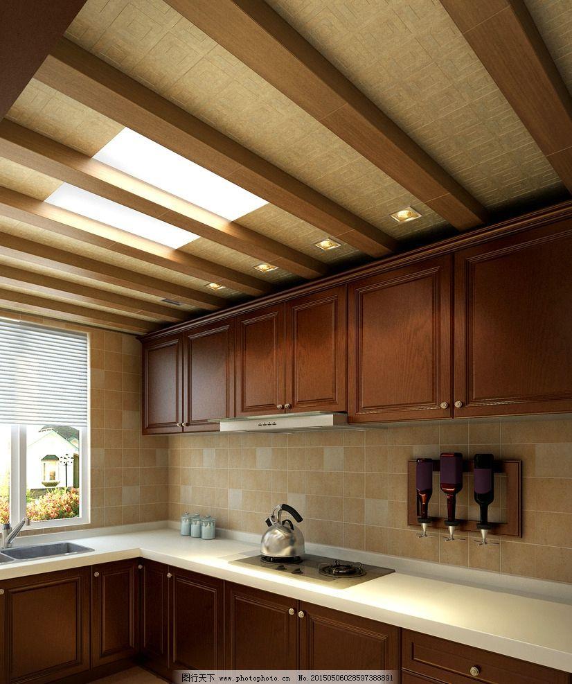 厨房木吊顶效果图图片