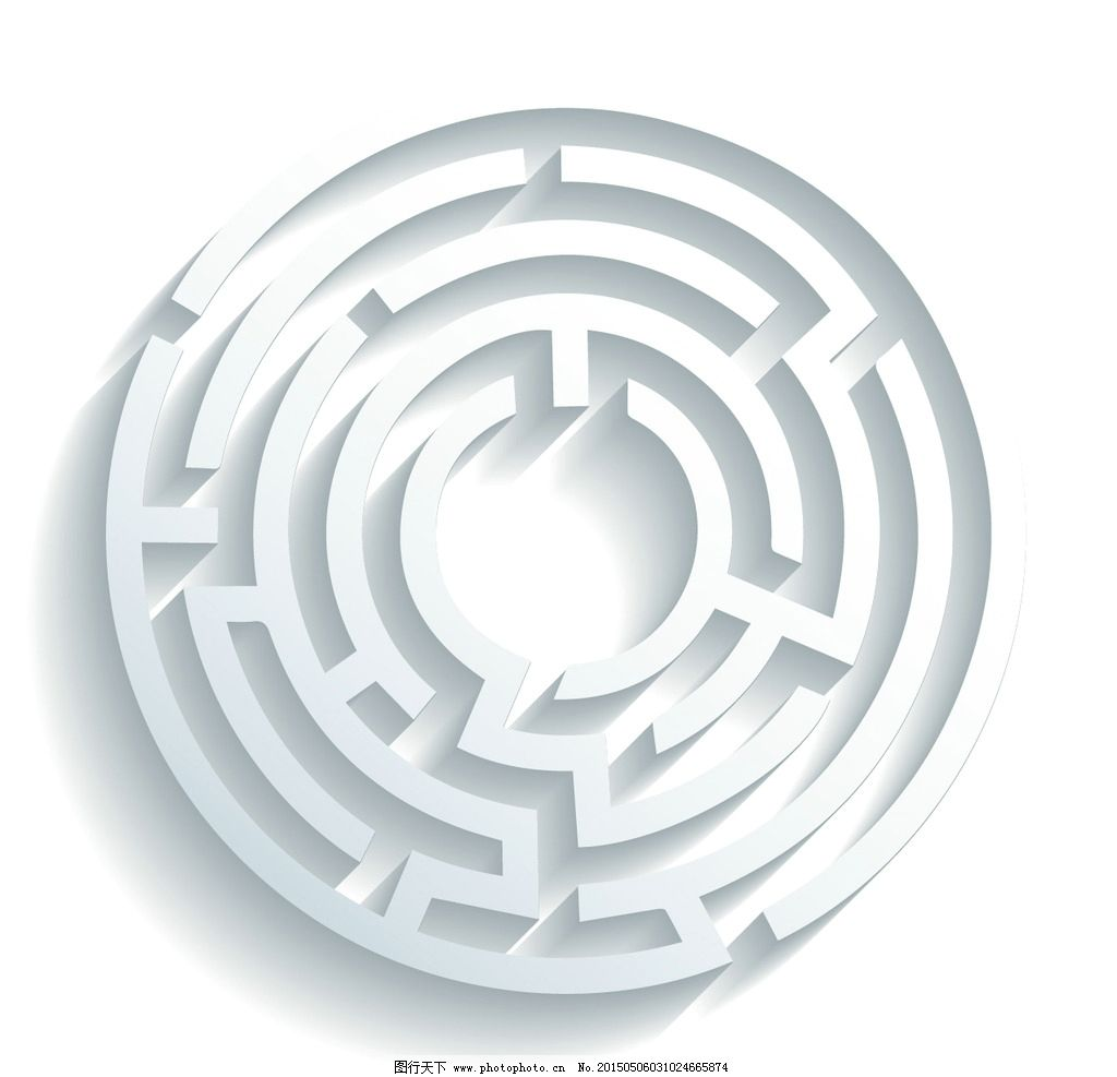 圆形立体迷宫 免费下载 矢量素材 圆形 立体迷宫 剪纸游戏  设计 广告图片
