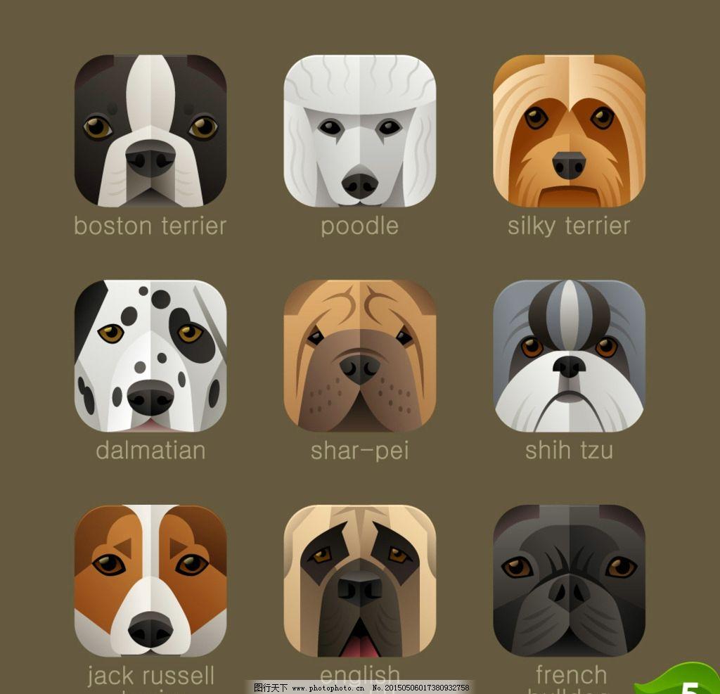 动物头像图标图片_图标按钮_ui界面设计_图行天下图库