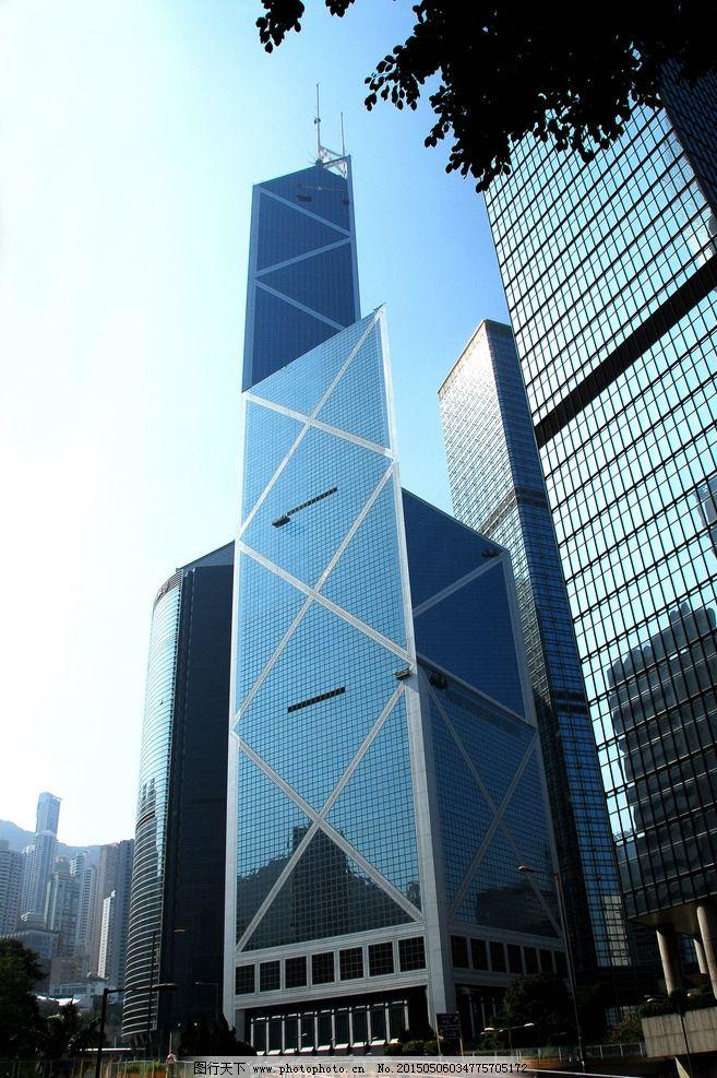 中银香港 中银大厦 香港著名建筑 贝聿铭 香港建筑 摄影 自然景观
