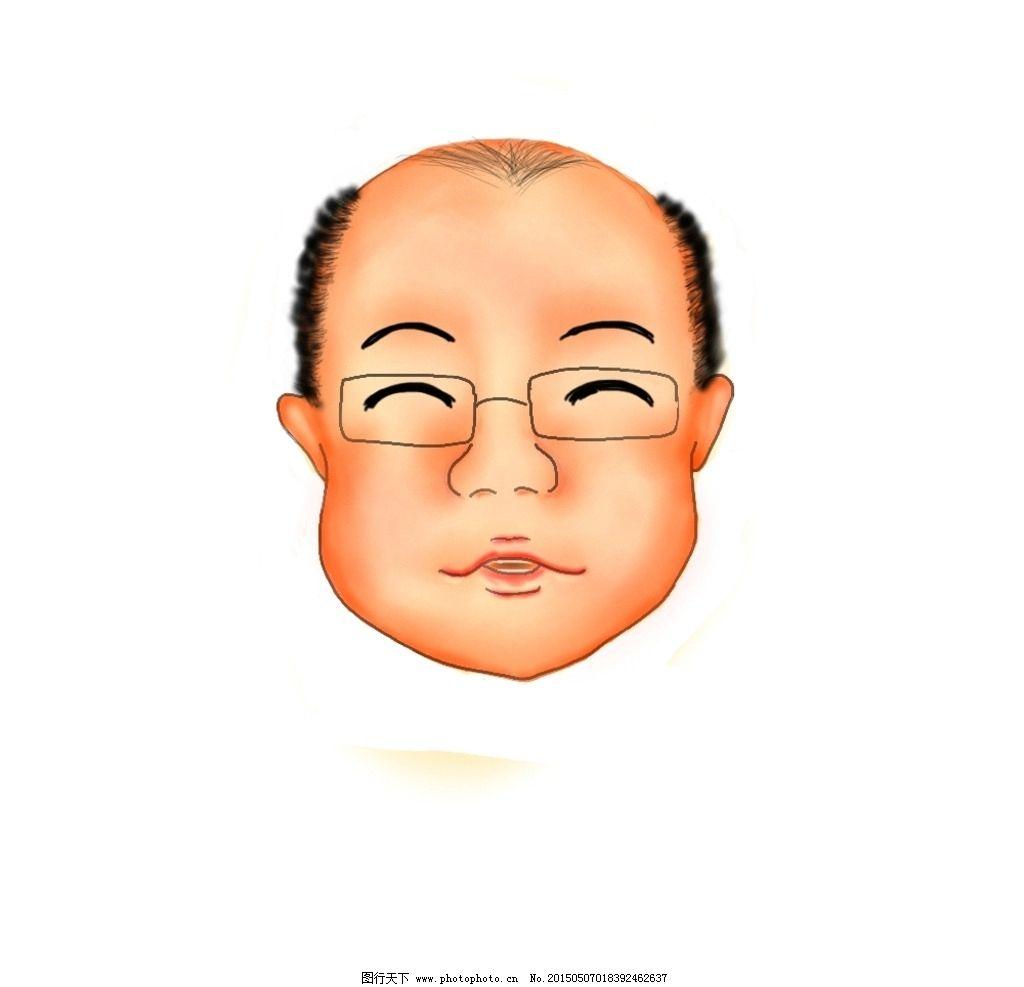 秃头 头 人头 q板 可爱 设计 动漫动画 动漫人物 25400dpi jpg
