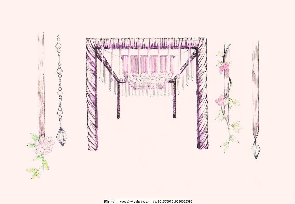 手绘 婚礼        花门