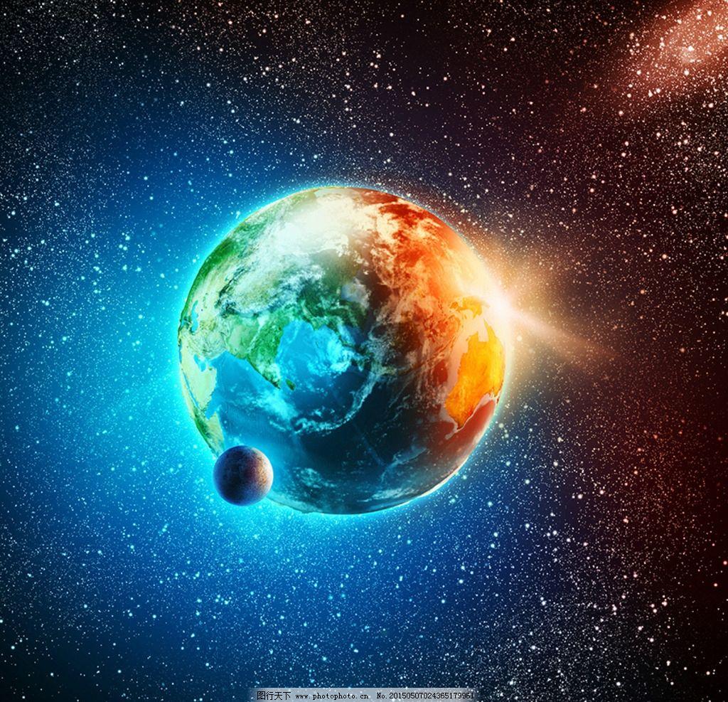 地球月球星空图片