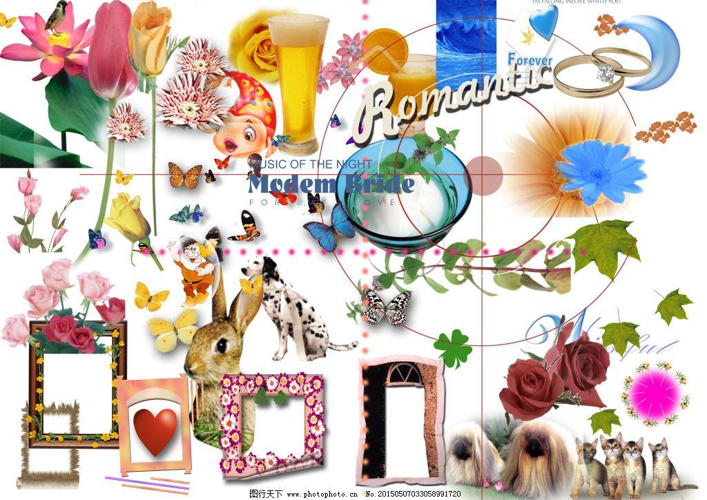 花草动物相框