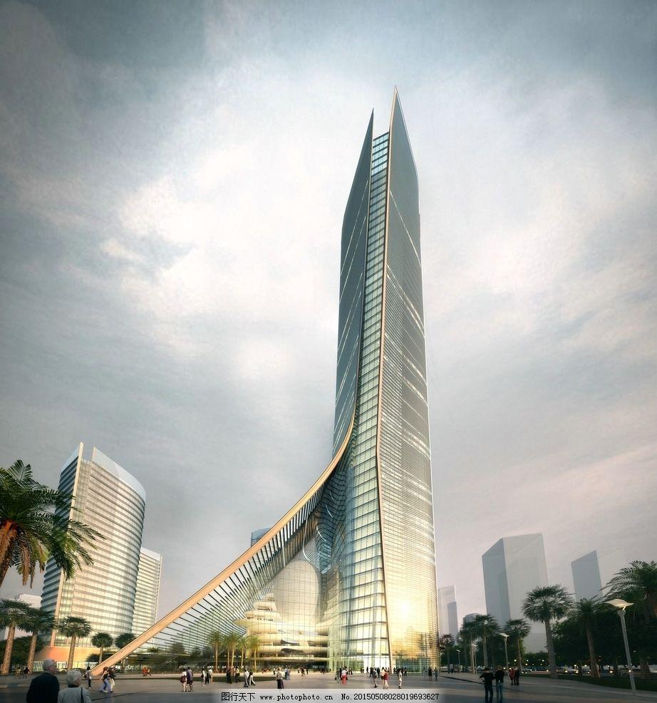 标准性建筑 建筑效果图 商业综合体 商业效果图 写意效果图 高层效果