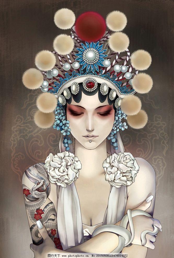 俏花旦图片,京剧 传统文化 装饰画 客厅画 卧室画-图
