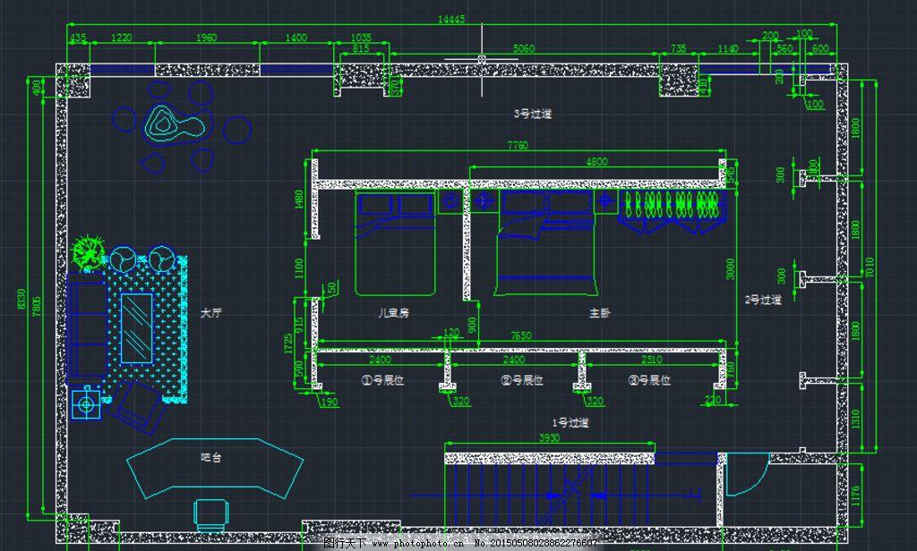 高清135平方室内设计平面图