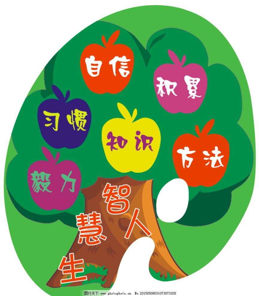息烽 调色盘 学校 小学 班级文化 班级布置 智慧人生 卡通树 智慧树