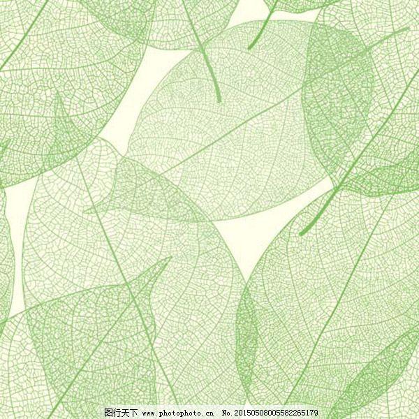 绿叶底纹背景矢量图