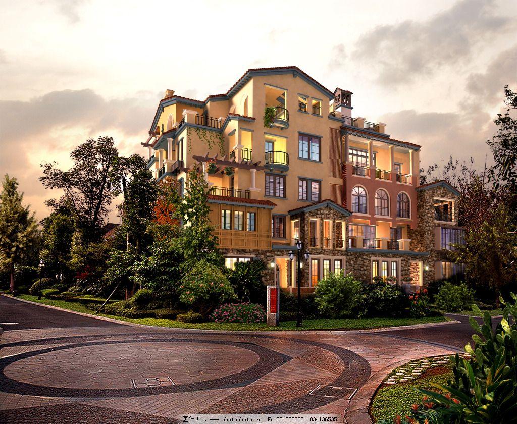 豪华欧式别墅 豪华欧式别墅免费下载 复古 建筑 家居装饰素材图片
