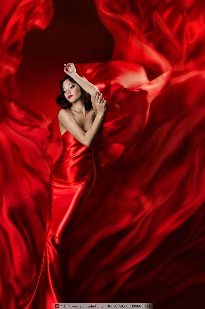 性感 长裙/红色性感长裙美女图片