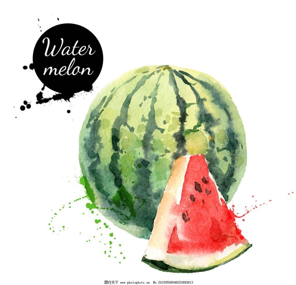 水彩水果西瓜图片