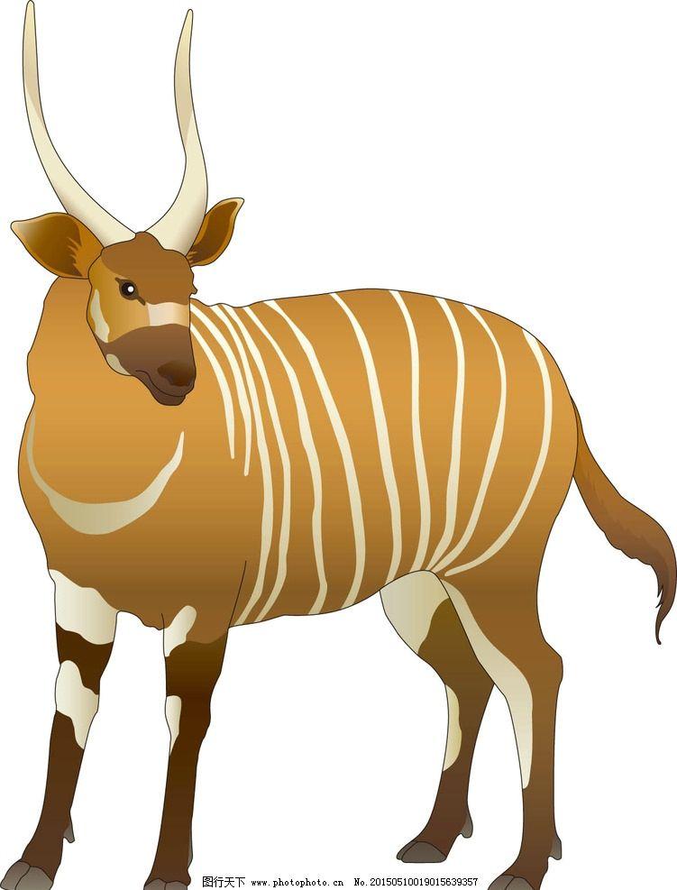 野生动物手绘图片