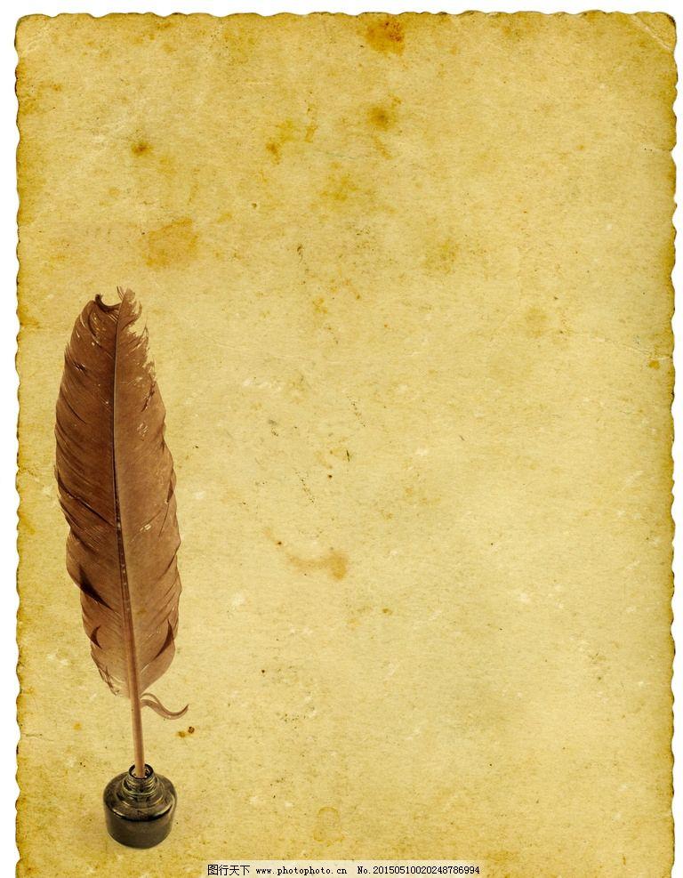 欧式复古信纸ppt背景系列