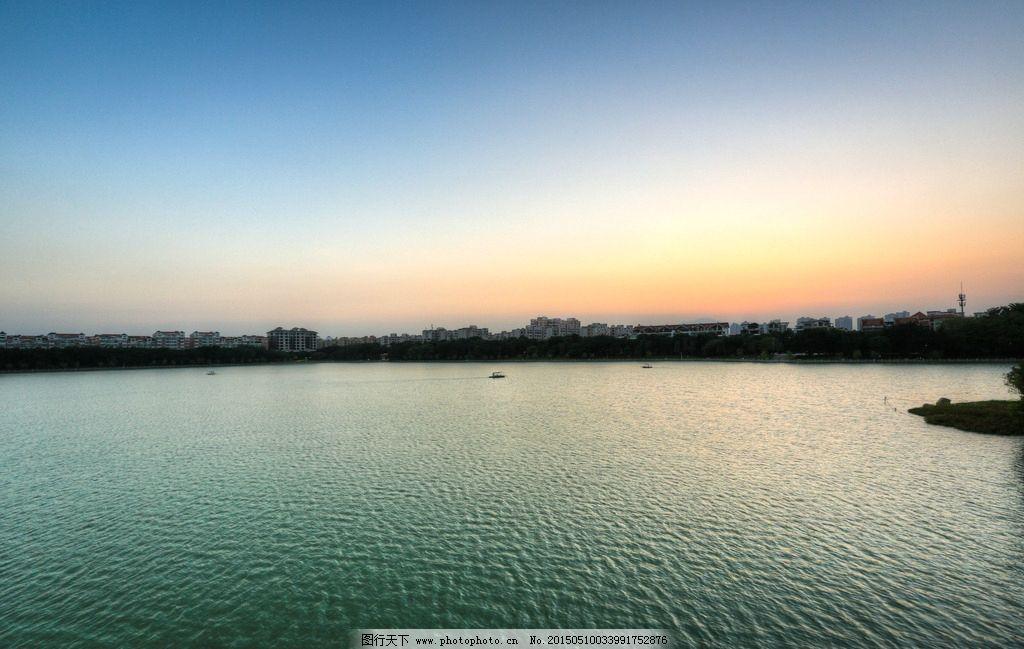 泉州西湖公园 风景名胜区 湖水 湖上园林 景色 蓝天 景点 生态环境