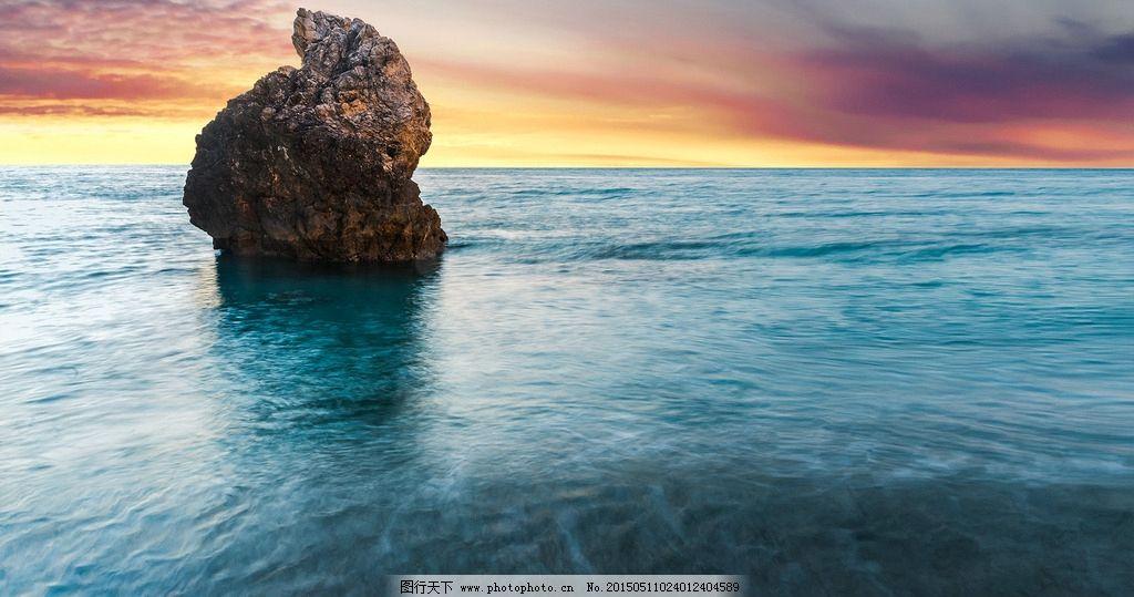 大海 海边 夕阳 云彩 桌面壁纸