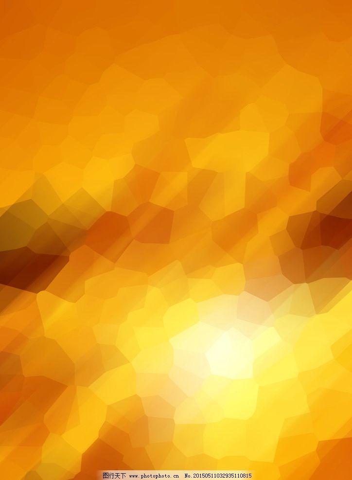 手绘浅橙色格子铺装