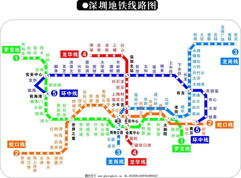 深圳地铁线路图