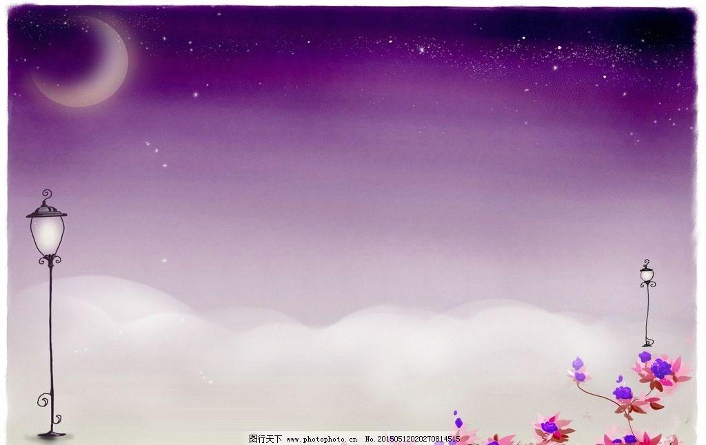 紫色底图 相框边框图片
