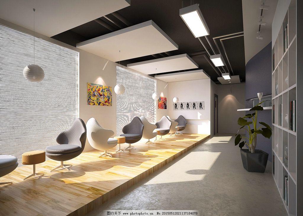 简约办公空间 吊顶 办公室效果图 地板 吊灯        设计 3d设计 3d