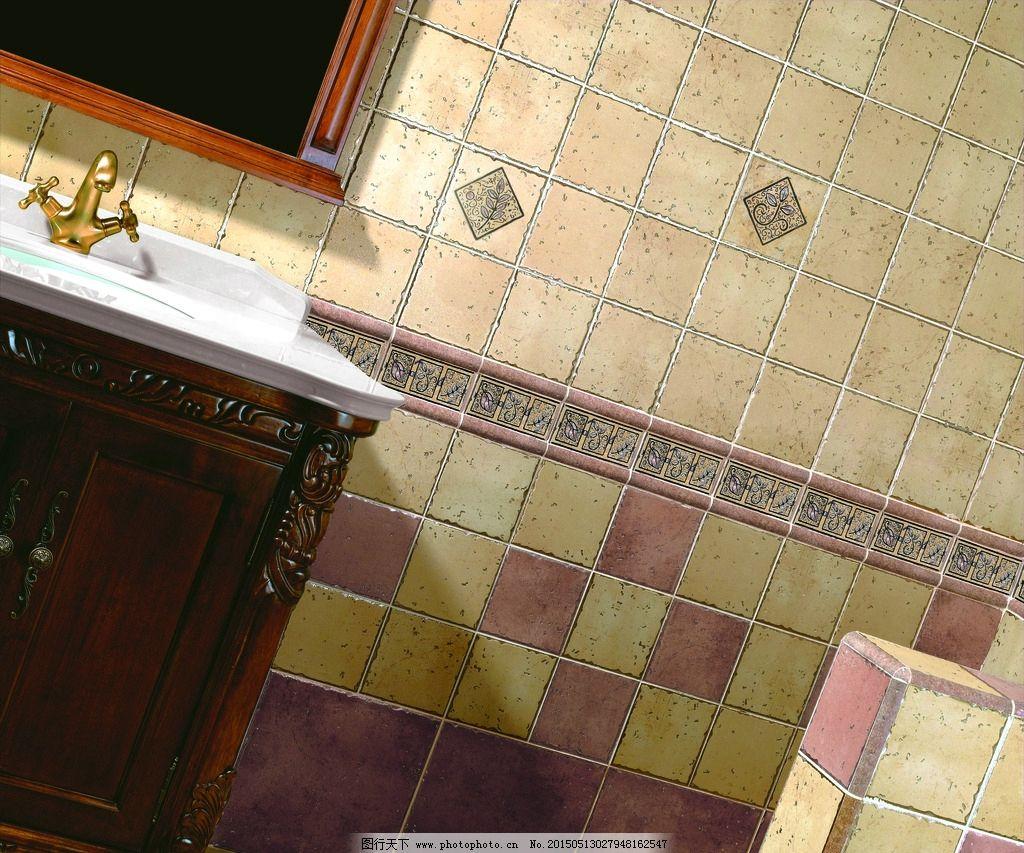 瓷片效果图 大理石瓷砖 客厅效果图 别墅 欧式 瓷砖铺贴 样板间铺砖