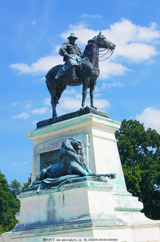 雕像 蓝天 白云 建筑景观 纽约 美国 城市 国外旅游 旅游掠影 摄影