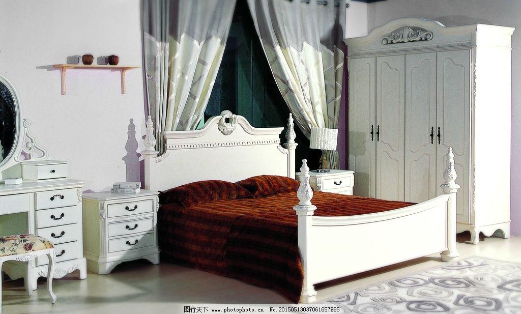 欧式家具 实木家具 床 床头柜 衣柜 家具摄影 家居生活 欧式家具摄影