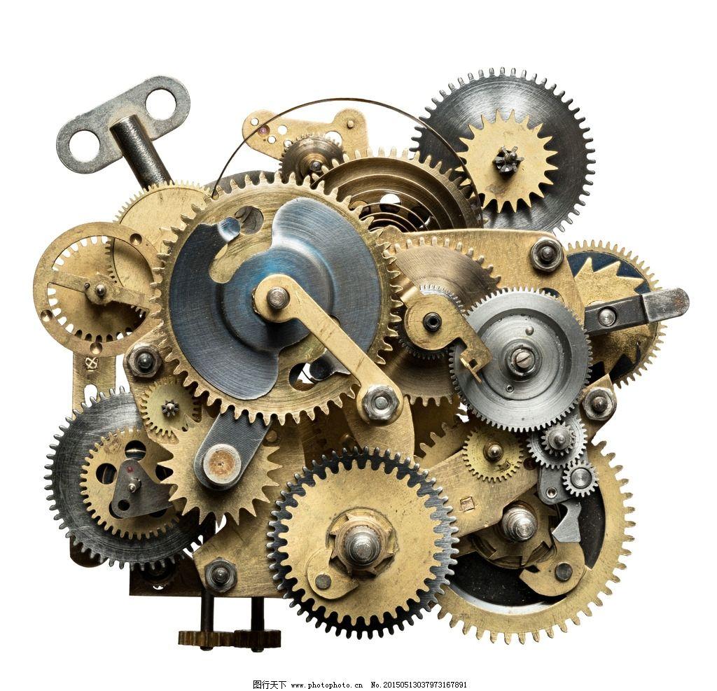 齿轮机械 钟表内部 齿轮 机械 工业生产 现代科技  摄影 现代科技
