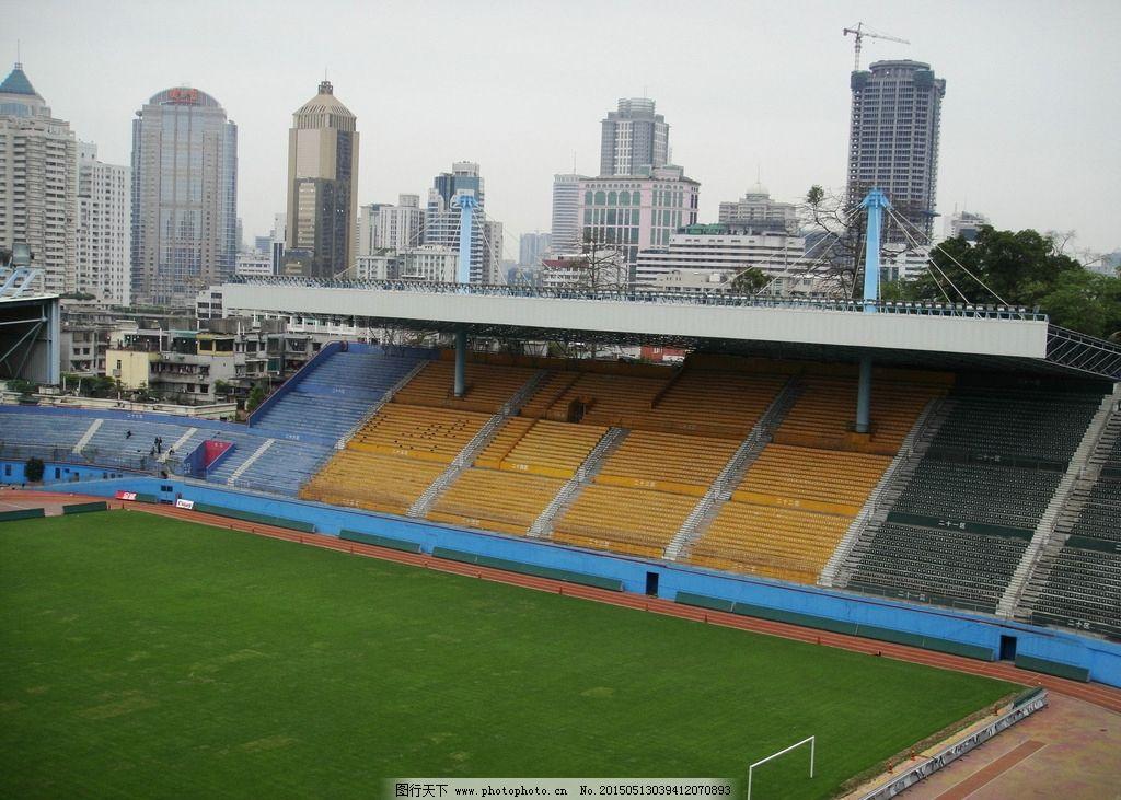 足球场草皮 摄影 建筑景点图片