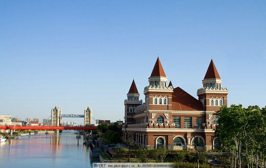 欧式建筑 风景摄影 水边建筑