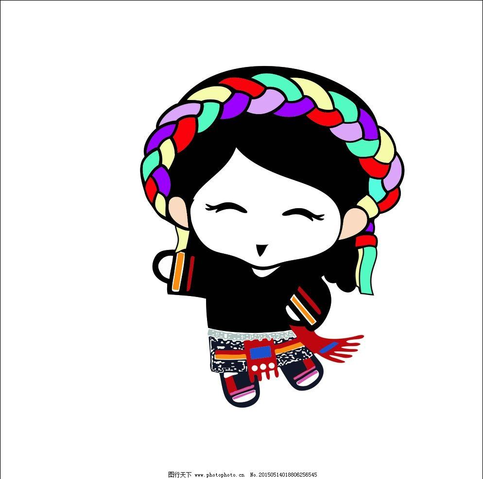 小女孩 女孩 藏族