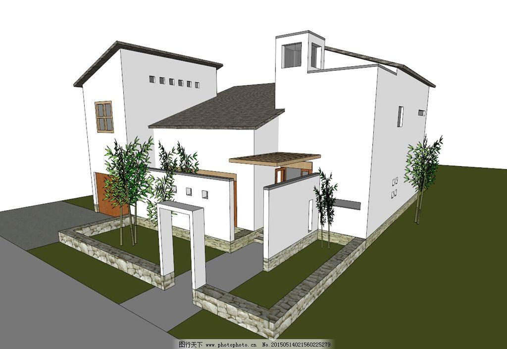 合院别墅图片_其他_3d设计_图行天下图库