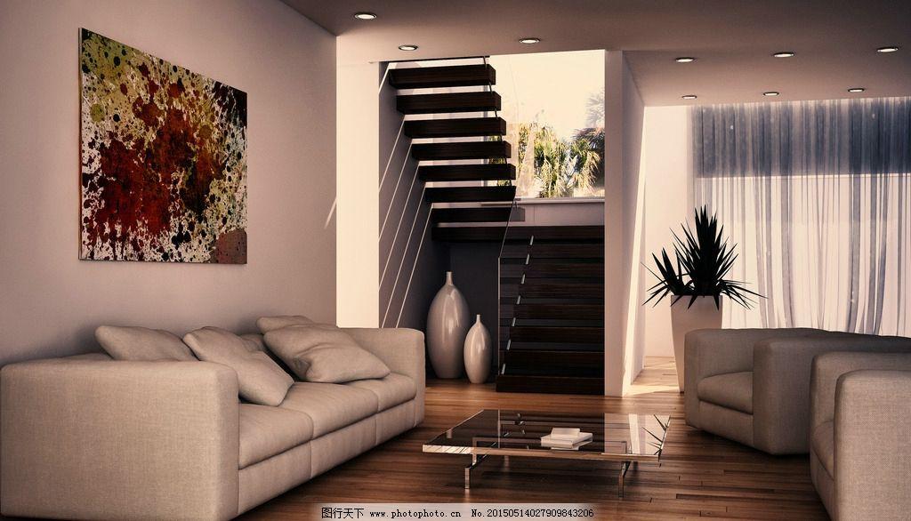 简约 温馨      欧式风格 木地板 白沙发 白墙 设计 环境设计 室内