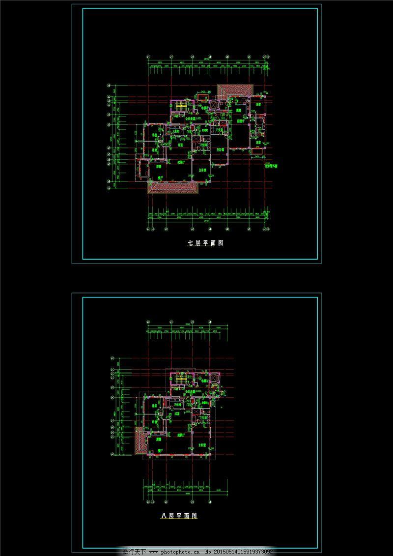 建筑物设计cad图纸
