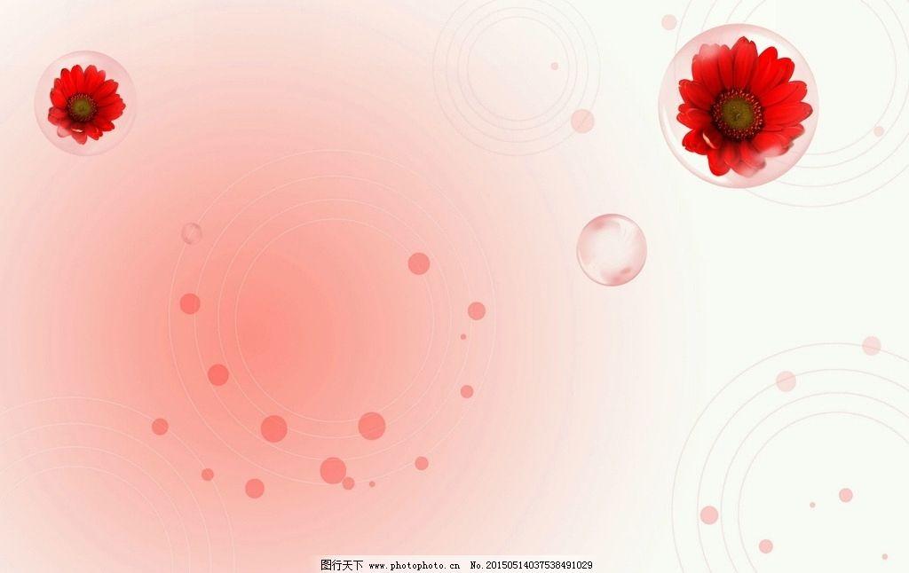粉红花纹水泡 粉色背景图片