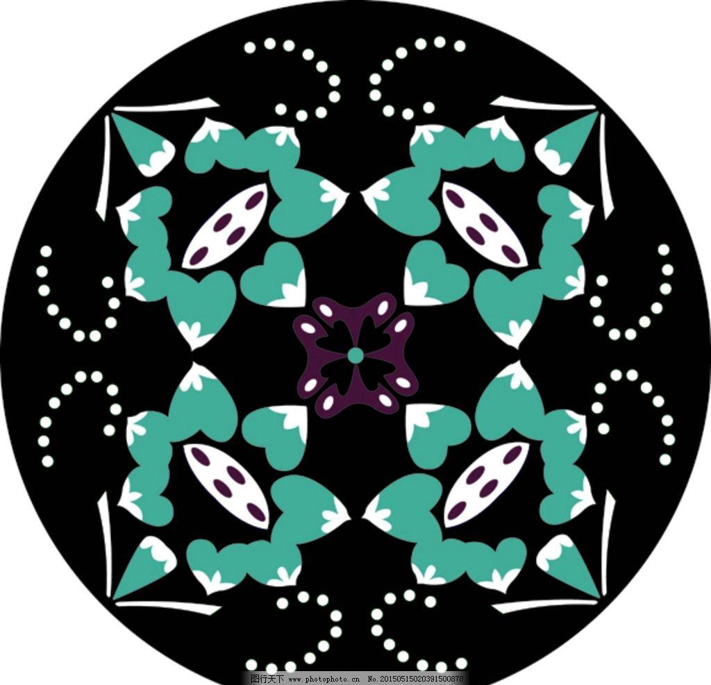圆形图案 复古 对称 华丽矢量花纹 古典花纹 装饰花纹 边框花纹