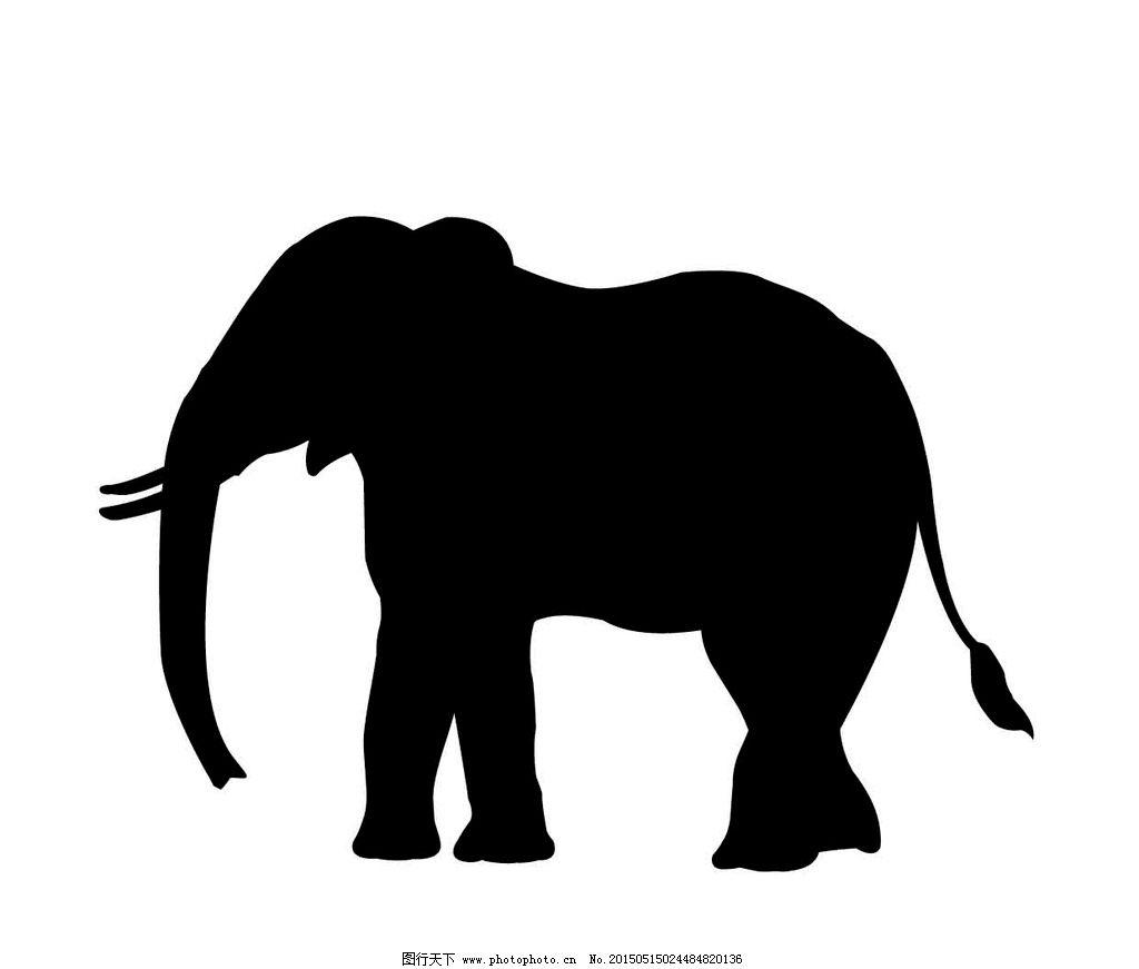 大象矢量图图片_野生动物