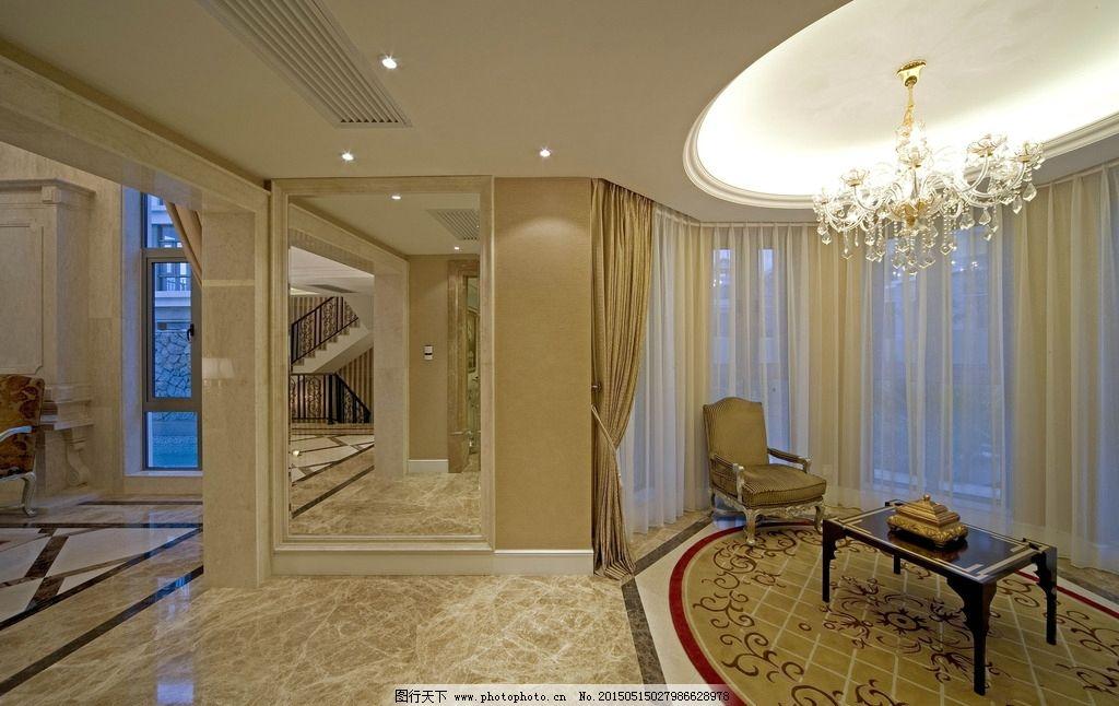 清爽别墅 高档别墅 设计 3d设计 室内模型 复式客厅 复式 欧式 室内