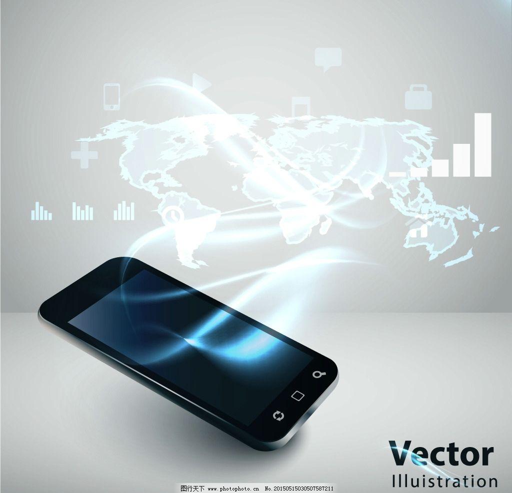 科技背景 网络技术 通信 网络 手机 创意背景 商务背景 设计 矢量 eps图片